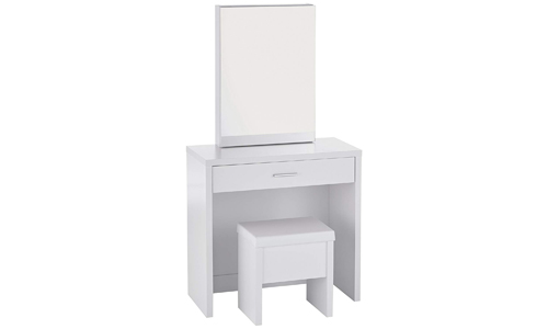 2 Piece Vanity Set With Hidden Mirror