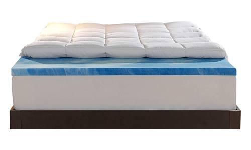 Sleep Innovations Gel Memory Foam Dual Layer Mattress Topper