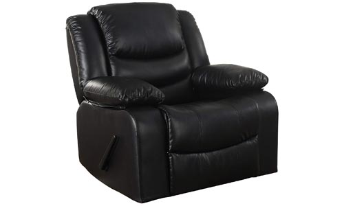 Bonded Leather Rocker Recliner Living Room