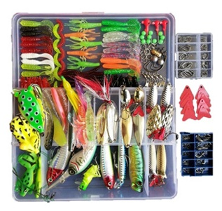 Smartonly 275pcs Fishing Lure Set
