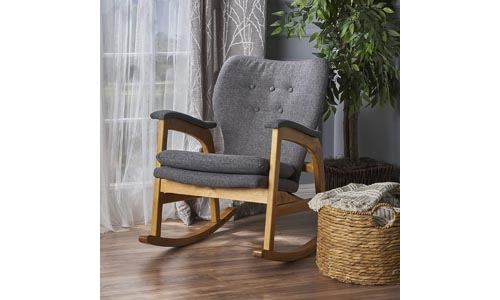 Bethany Mid Century Fabric Rocking Chair