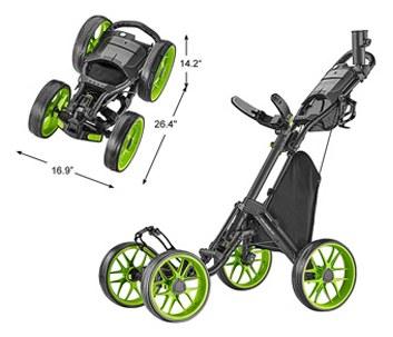 CaddyTek One-Click Folding four-wheel