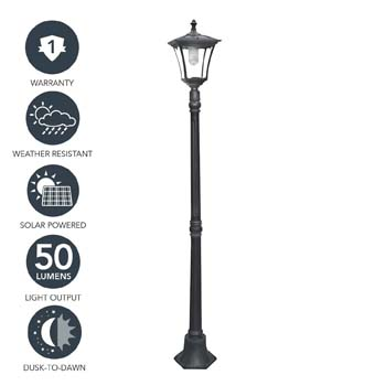 9. Sterno Home Outdoor Solar LED Street Light