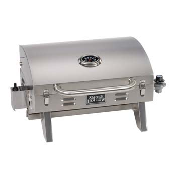 10. Smoke Hollow 205 Stainless Steel TableTop Propane Gas Grill