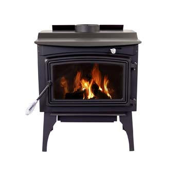 9. Pleasant Hearth 1,800 Sq. Ft. Medium Wood Burning Stove