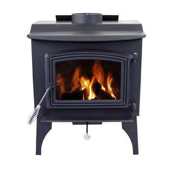 5. Pleasant Hearth 1,200 Sq. Ft. Small Wood Burning Stove