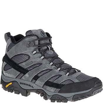 1. Merrell Men's Moab 2 Mid Waterproof Hiking Boot