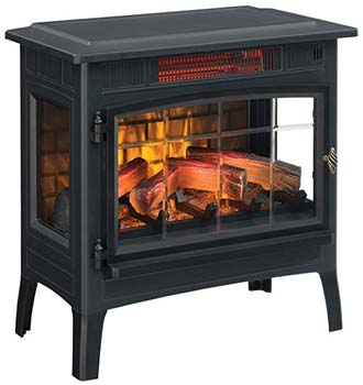 5. Duraflame Electric Infrared Quartz Fireplace Stove with 3D Flame Effect