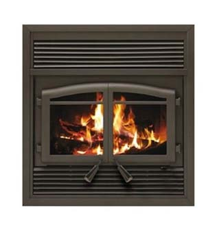 3. Flame Monaco EPA ZC Fireplace with Black Louver Kit