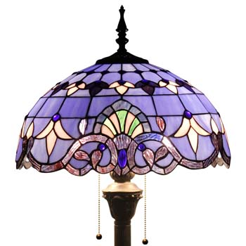 8. Tiffany Style 64 Inch Tall Purple Blue Lavender Baroque Shade