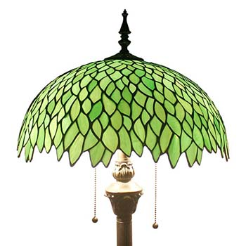 4. Green Wisteria Standing Lamp