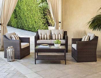 7) SOLAURA Outdoor Conversation Furniture Set