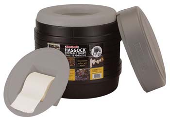 10. Reliance Hassock Portable, Lightweight and Self-Contained Toilet