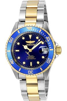 4. Invicta Men's 8928OB Pro Diver Gold Stainless Steel Two-Tone Automatic Watch