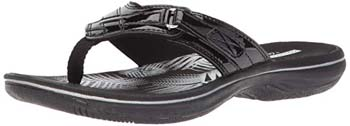 10. Clarks Women's Breeze Sea Flip-Flop