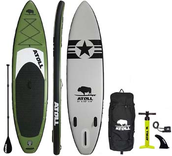 4. Atoll 11' Foot Inflatable Stand Up Paddle Board