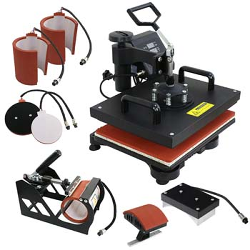 2. F2C Pro 6/1 Combo Machine T-Shirt, Hat, Cap, Mug, Plate, Sublimation Machine Digital Transfer Swing Away