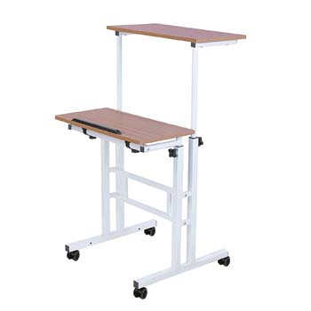 3. SDADI 2 Inches Carpet Wheels Mobile Standing Desk Stand Up Desk