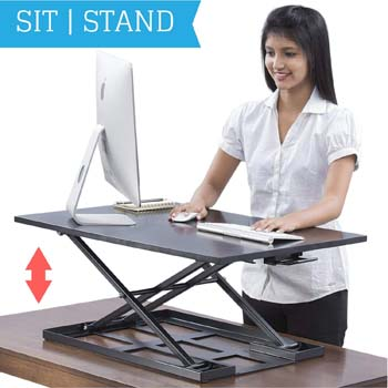 6. Deskool Standing Desk Converter - Standup Ergonomic Height Adjustable Desktop
