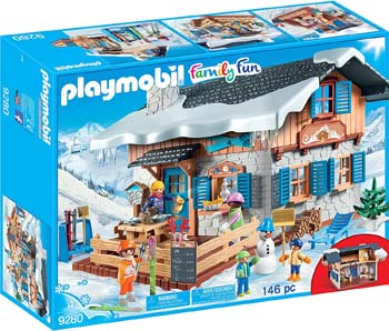 6. PLAYMOBIL SKI LODGE BUILDING SET