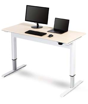 9. Pneumatic Adjustable Height Standing Desk