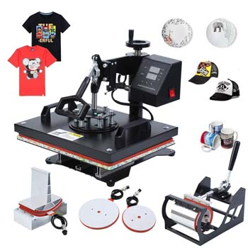 3. Iglobalbuy 1000 Multi-Functional Digital LCD Transfer Sublimation for T-Shirt, Mug, Hat, Plate, Cab, Heat, (5 in 1 Machine)