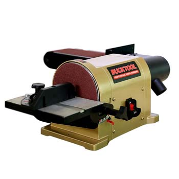 6. BUCKTOOL 4 x 36-Inch Belt and 6-Inch Disc Sander with Portable Al. Base