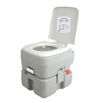 9. SereneLife Outdoor Portable Toilet with Carry Bag and with Level Indicator