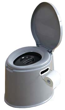 8. Basicwise Portable Travel Toilet for Camping and Hiking