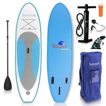 6. SereneLife Inflatable Stand Up Paddle Board