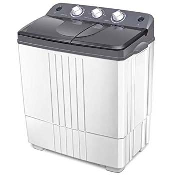 9. COSTWAY Washing Machine, Electric Compact Laundry Machines