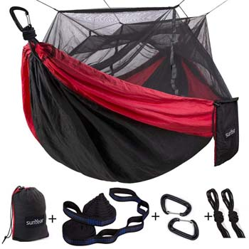 8. SINGLE AND DOUBLE CAMPING HAMMOCK