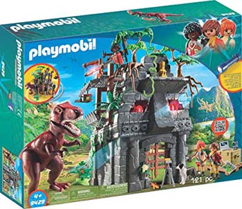 4. PLAYMOBIL HIDDEN TEMPLE WITH T-REX SET