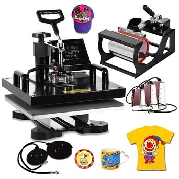 8. VEVOR Machine15x15inch Heat Press 8 in 1 Multifunctional Digital Sublimation Heat Presser Auto-Countdown T-Shirts Mug Hat 15x15INCH/8IN1 Black.