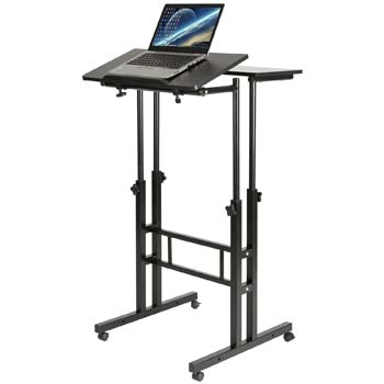 7. DOEWORKS Mobile Stand Up Desk Height Adjustable Computer Work Station