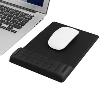 9. Ergonomic Padded Mouse Pad with Wrist Rest Memory Foam