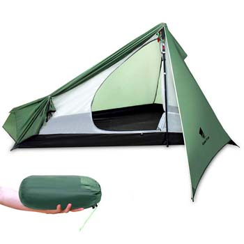 8. GEERTOP Portable 1 Person Backpacking Tent