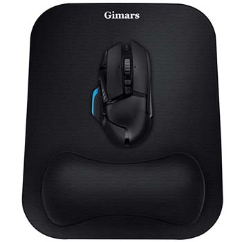 7. Gimars Large Smooth Superfine Fibre Memory Foam Ergonomic Mouse Pad Wrist Rest Support