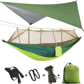 9. TOPCHANCES UPGRADE ULTRALIGHT PORTABLE NYLON HAMMOCK