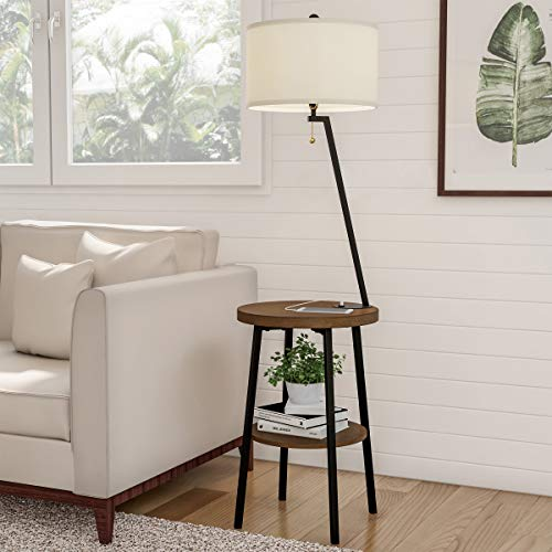 Lavish Home Floor Lamps with Tables